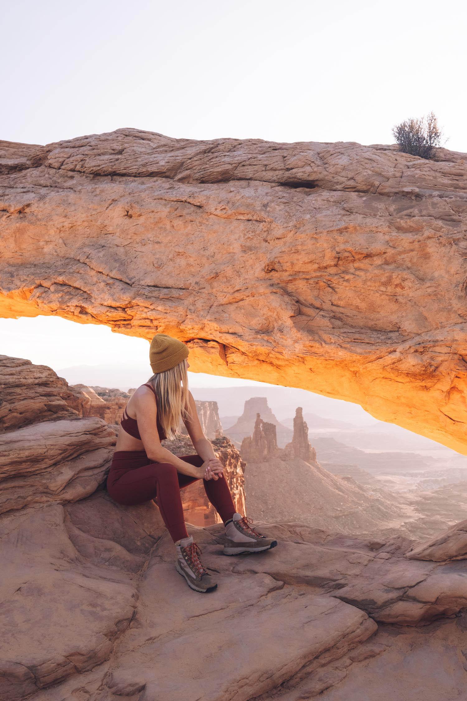 moab arches national park sunrise