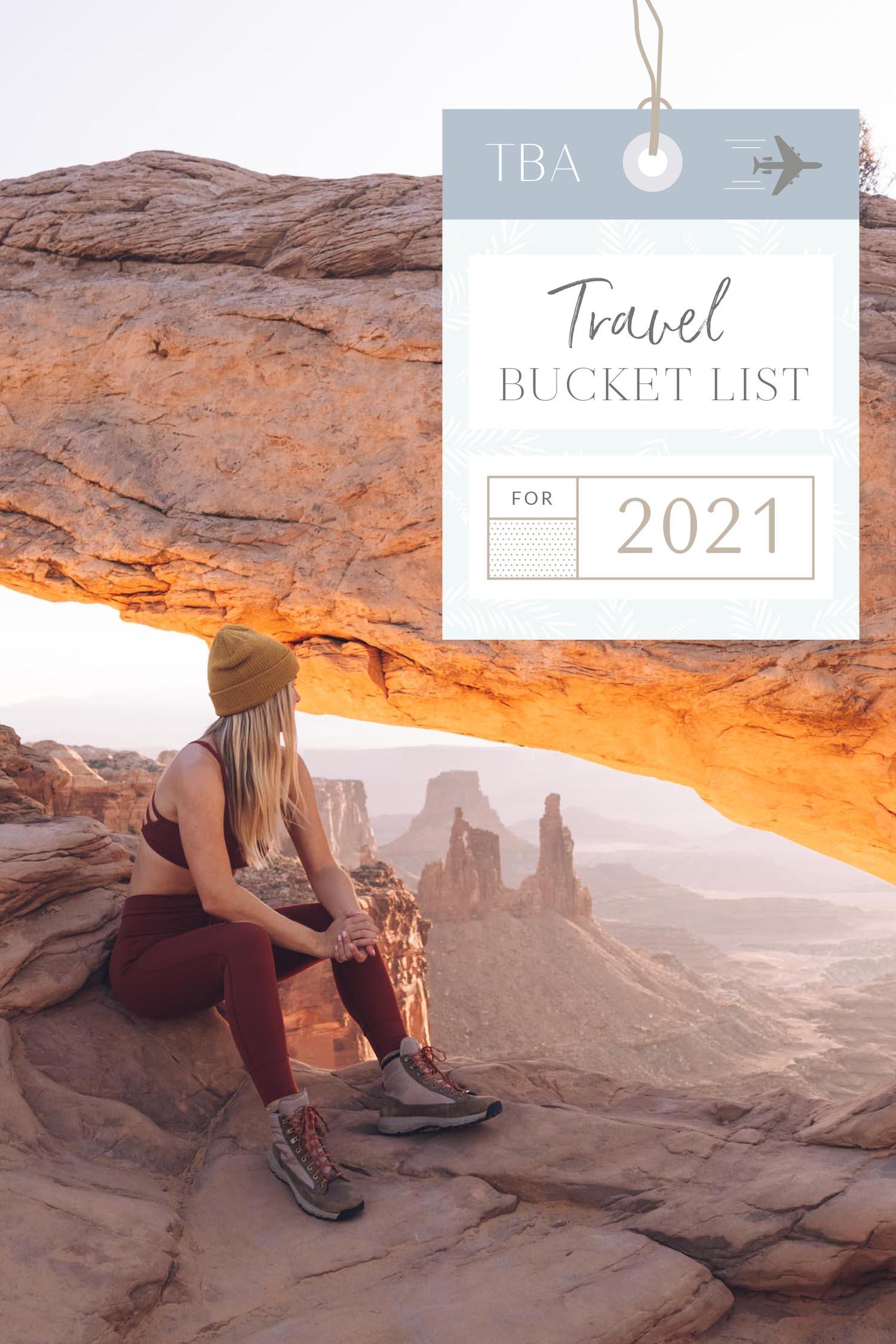 Lista de balde de viagens 2021