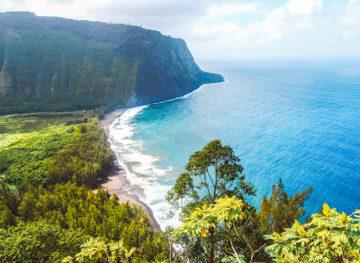 Waipio Valley Scenic View Big Island Hawaii