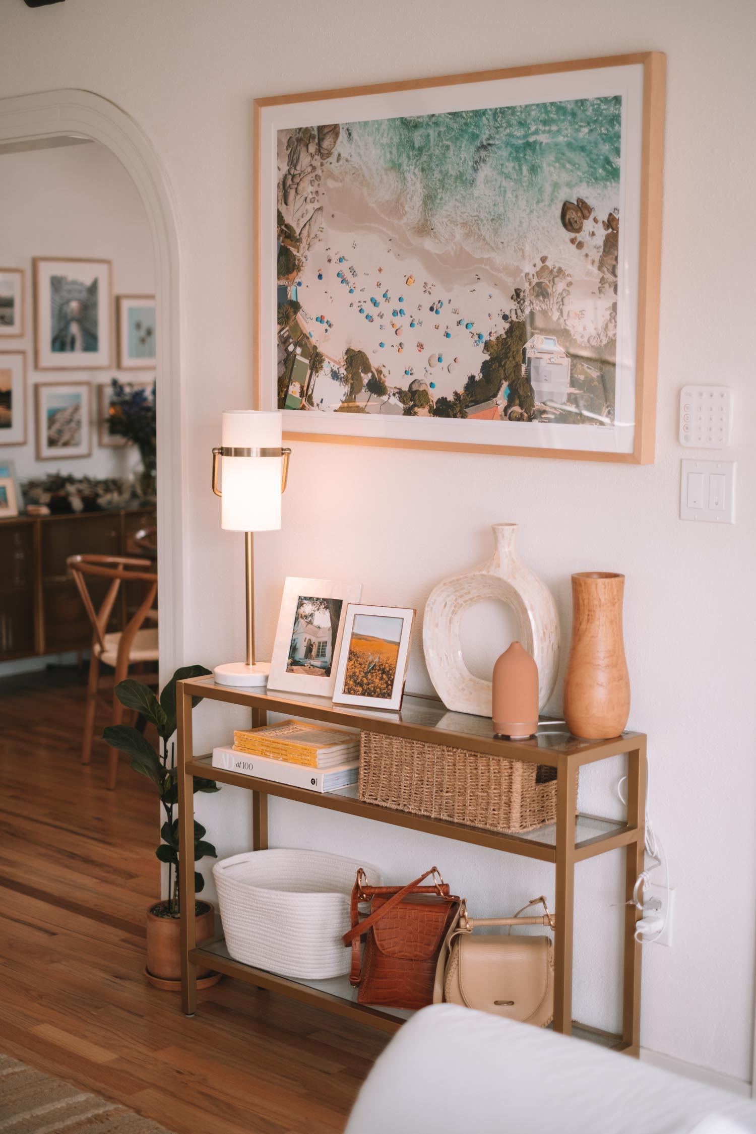 modern vintage california living room