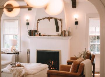 Boho Mid Century Modern Living Room