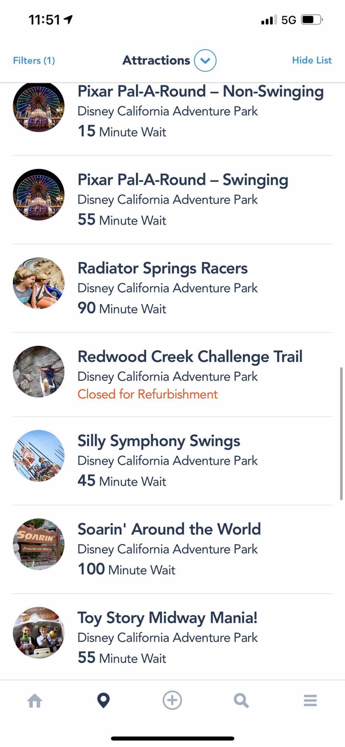 california adventure covid disneyland app