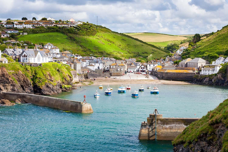 North Cornwall Coast, England UK fishing village